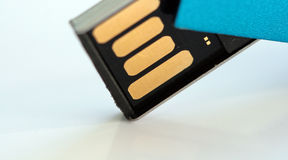 USB闪光推进宏指令 免版税库存图片