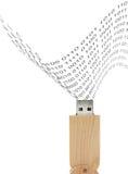 USB闪光推进木设计和二-十进制 图库摄影
