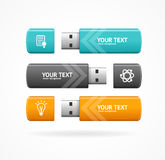 USB闪光选择横幅 向量 免版税库存照片