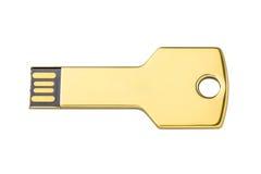 USB闪光驱动作为存储信息的钥匙 图库摄影