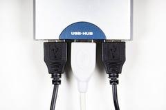 USB-πλήμνη που απομονώνεται Στοκ εικόνα με δικαίωμα ελεύθερης χρήσης