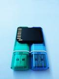 USB-ραβδί, αναγνώστης καρτών Στοκ εικόνες με δικαίωμα ελεύθερης χρήσης
