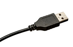 usb кабеля с черной пропиткой Стоковая Фотография