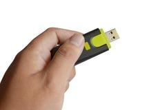 USB удерживания руки Стоковые Изображения