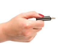 usb хранения удерживания руки прибора Стоковая Фотография