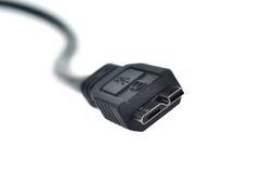 0 3 usb 被隔绝的0个缆绳插座 免版税库存照片