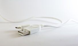 Usb. Device is connected to the computer Stock Photo