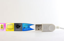 Usb. Device is connected to the computer Royalty Free Stock Photos