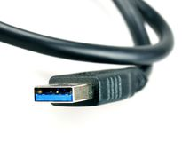 USB 3.0 Type A plug Stock Image