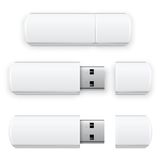 Вспышка USB вектора Стоковое Изображение