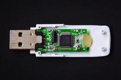 Привод вспышки USB ПК внутрь Стоковые Фото