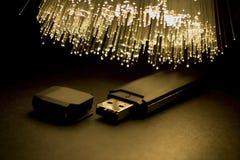 USB. Digital fleshdrive optical fiber floodlight Royalty Free Stock Photos