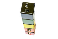 USB Aangesloten apparaten Royalty-vrije Stock Afbeeldingen