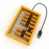 Usb abacus Royalty Free Stock Photos
