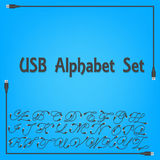 USB Alphabet Upper Case Design Royalty Free Stock Images