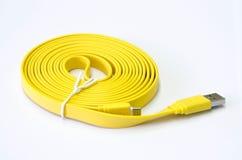 USB amarelo Fotografia de Stock Royalty Free