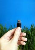 USB-Antrieb in einer Hand Lizenzfreie Stockfotos