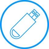 USB-Antriebs-Vektor-Linie Ikone Lizenzfreie Abbildung