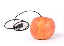 Usb-Apfel Lizenzfreie Stockfotos