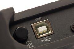 USB-Art b-Input des Oszilloskops des digitalen Signals lizenzfreies stockbild