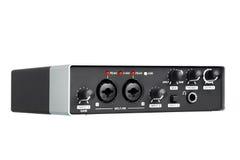USB Audio interfejs, zewnętrznie rozsądna karta Fotografia Stock