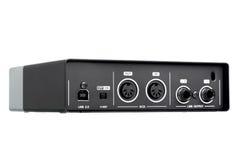 USB Audio interfejs, zewnętrznie rozsądna karta Zdjęcie Royalty Free