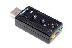 Usb audio sound card isolated royalty free stock image