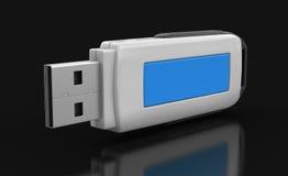 USB błyskowa pamięć (ścinek ścieżka zawierać) Fotografia Stock