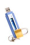 USB błyskowy pendrive z kłódką Zdjęcia Stock