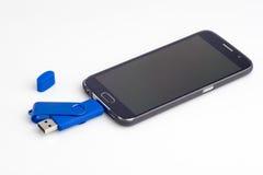USB błysku przejażdżka dla androidu Mądrze telefonu Zdjęcie Stock