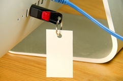 USB błysku przejażdżka z kartą w komputerze Zdjęcia Royalty Free