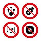Usb błysku przejażdżki ikony Notatnika lub laptopu komputer osobisty Obraz Stock