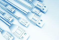 USB Background Stock Photos