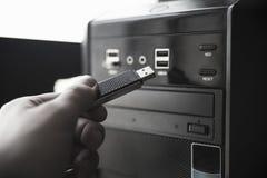 USB-Blitz Antrieb und PC Lizenzfreies Stockfoto