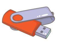 USB-Blitz-Antrieb Universalserien-Bus vektor abbildung