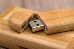 Usb-Blitz machte Bambus Lizenzfreies Stockfoto