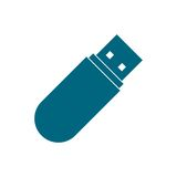 USB blue icon Stock Photography