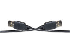 Usb a cable. The black usb a cable Stock Photo