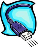 USB cable. Illustration Royalty Free Stock Image