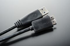 USB 3.0 Cable Stock Image