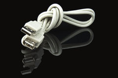 USB Cable on Black Stock Photos