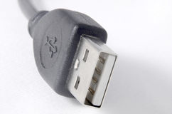 USB cable close up Royalty Free Stock Images