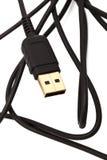 Usb cable close up Stock Photos
