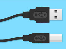 USB cable connector Royalty Free Stock Photos