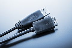 USB 3.0 Cable Stock Photography