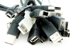 USB cable heap Royalty Free Stock Images