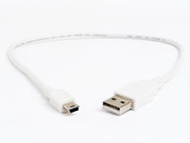 USB cable with mini connector Stock Photos
