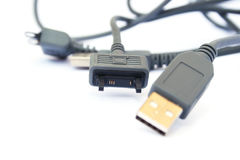 USB cable and plug Stock Image