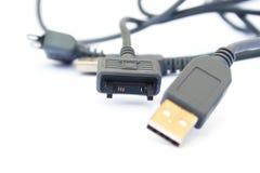 USB cable and plug stock image