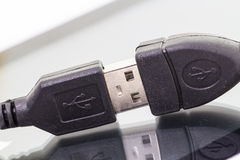 USB Cable Plug Royalty Free Stock Images